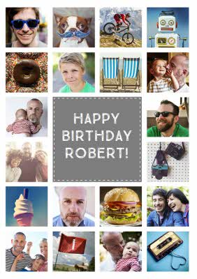 Multi photo upload birthday card bookmarktalkfo Image collections